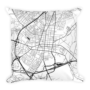 Frederick Map Pillow – Modern Map Art