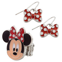 Disney Minnie Mouse Ring and Earrings Set | Disney Store