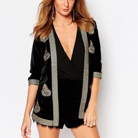 Millie Mackintosh Velvet Embroidered Jacket