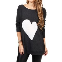 Gray/White Heart Tunic