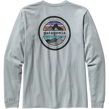 Patagonia Rivet Logo T-Shirt - Long-Sleeve - Men's