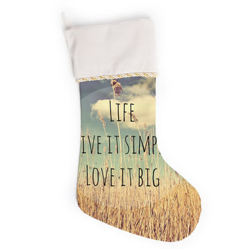 "Alison Coxon ""Life"" Christmas Stocking"