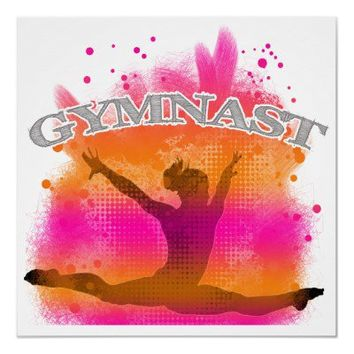 Gymnast Leaping Poster from Zazzle.com