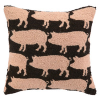 So Many Pigs Hook Pillow