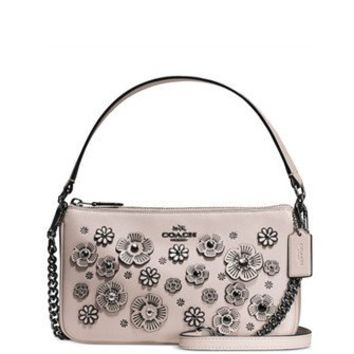 Coach Willow Floral Nolita Crossbody 24 in Glovetanned Leather