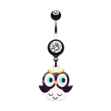 Curious Owl Belly Button Ring