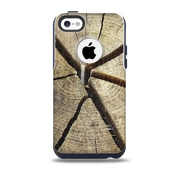The Cracked Wooden Stump Skin for the iPhone 5c OtterBox Commuter Case