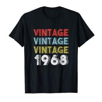 Retro Vintage Born In 1968 - 50th Birthday Gift