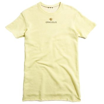 Gracious x Barth NY Oversized French Terry T-Shirt Yellow