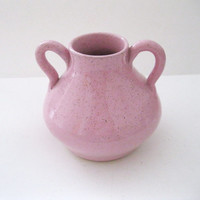 Graham Chriscoe Pottery Jug Two Handled Mottled Pink Grant Simmons High Gloss Mid Century Art Pottery Steeds North Carolina -FL