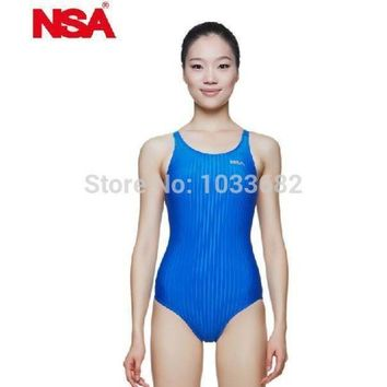 DCCKUH3 NSA swimwear professiomal  triangle competition training swimsuit  waterproof chlorine resistant women's swimwear bathing suit
