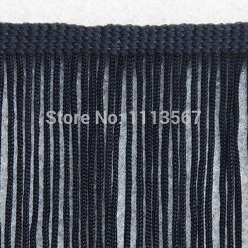 20yards Craft Braided 7.5cm Black Polyester Fringe Tassel Trimming Lace Trim For Latin Dress Samba Stage Clothes Curtain Shoes