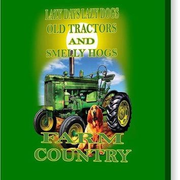 Lazy Days Tractor Farm Country - Canvas Print