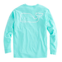 Vineyard Vines Long Sleeve Vintage Whale Graphic Pocket Tee- Marina