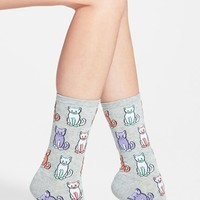 Women's Hot Sox 'Cats' Crew Socks (3 for $15)