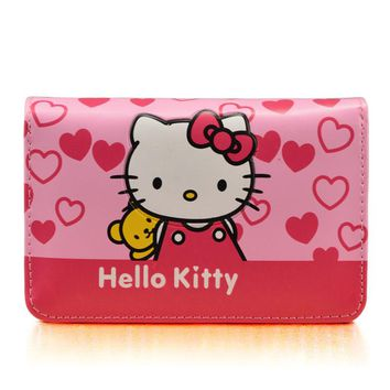 Cute Cartoon Hello Kitty Famous Brand Designer Purse Women Leather Wallets For Girls Clutch Purse Lady Party Wallet Card Holder