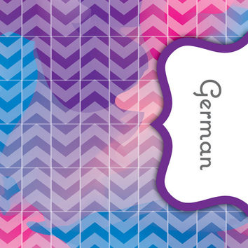 Back to School! Swirly Paint Binder Dividers - German Class