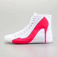 Big City Pump Silhouette Sneaker, Pink