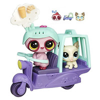 Littlest Pet Shop City Rides Sloth and Lhasa Apso Scooter