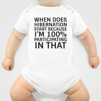 When Does Hibernation Start Baby Clothes by CreativeAngel