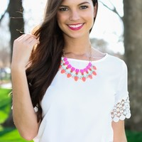Love On The Line Blouse-White