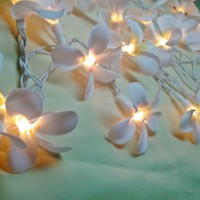 35 White Orchid Flower Fairy String Lights Wedding Floral Home Decor