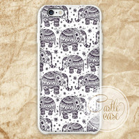 Ethnic Elephant Seamless iPhone 4/4S, 5/5S, 5C Series, Samsung Galaxy S3, Samsung Galaxy S4, Samsung Galaxy S5 - Hard Plastic, Rubber Case