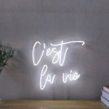 New C'est La Vie Neon Sign For Bedroom Wall Home Decor Artwork Light With Dimmer