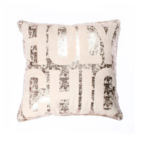 THRO Gold Holy Chic Pillow