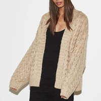 Kendall and Kylie Chunky Cable Knit Cardigan at PacSun.com