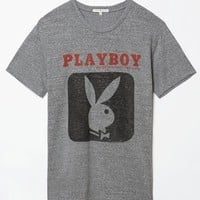 Junk Food Playboy T-Shirt - Mens Tee - Grey