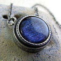 Northern Lights Necklace  Aurora Mist  Blue by AshleySpatula