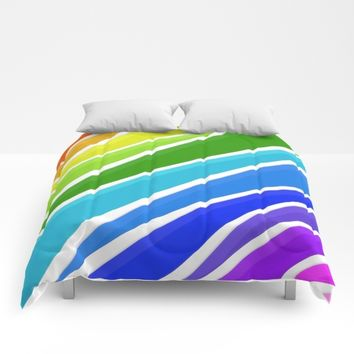 Raining Rainbows Comforters by UMe Images