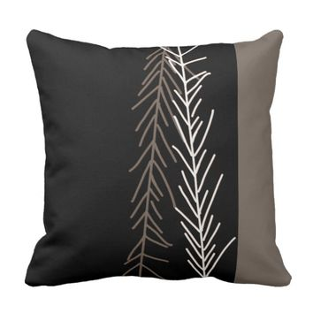 pillow bold black,white gray abstract nature art