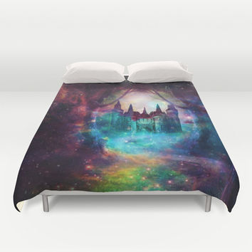 Magical castle Duvet Cover by Haroulita