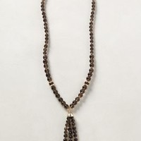 Zilia Tassel Necklace by Anthropologie Black One Size Necklaces