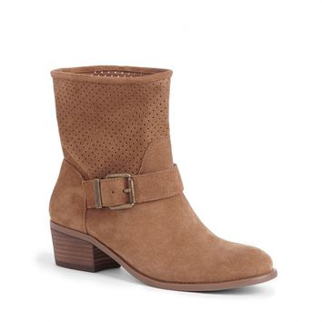 Sole Society Sola Laser Cut Suede Boot