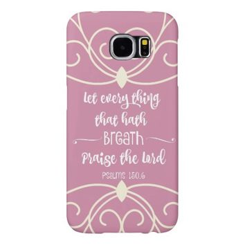 Vintage Pink: Psalms Bible Verse Samsung Galaxy S6 Cases