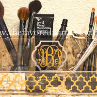 Monogrammed Make-up Organizer