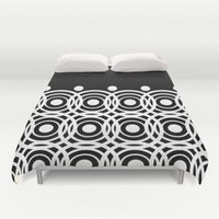 Hypno Circles Duvet Cover by UMe Images