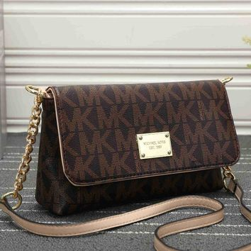 MK Women Shopping Bag Leather Satchel Crossbody Handbag Shoulder Bag [54723346444]