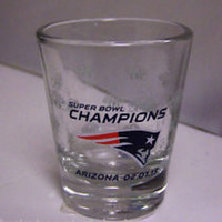 Boelter 2-Ounce Satin Etch Shot Glass - NFL New England Patriots Super Bowl 49 Champs