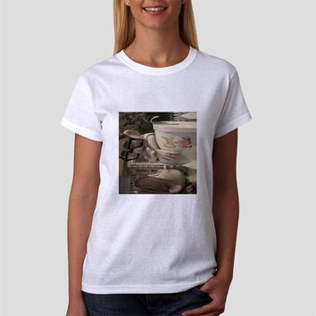 Classic Women Tshirt Disney Up Carl And Ellie Old Photo