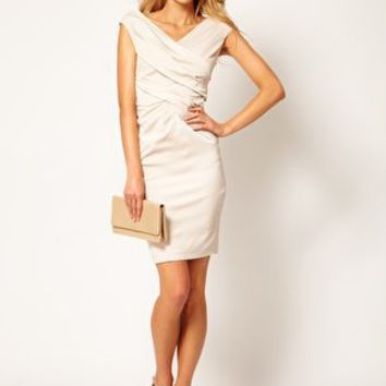 Coast  Ruch Wrap Effect Dress at asos.com
