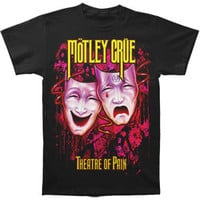 Motley Crue Men's  Theatre Of Pain Montage T-shirt Black