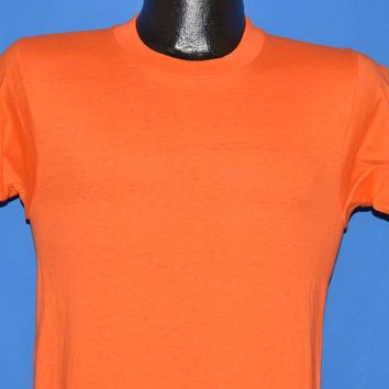 70s Blank Orange Deadstock t-shirt Small