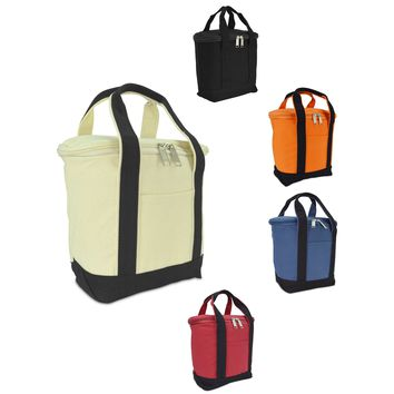 "DALIX 9.5"" Insulated Leakproof Cooler Lunch Box Bag Organizer Soft Cotton Canvas"