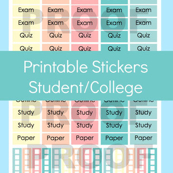 Erin Condren Planner Stickers, Printable Planner Stickers, Erin Condren Stickers, Planner Stickers Erin Condren, College Planner Stickers