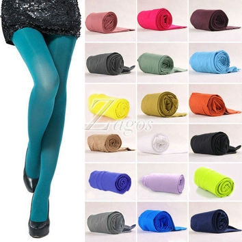NEW Women's Sexy 17 Candy Color Opaque Stockings Pantyhose Tights 100D BD0026 = 1958611588