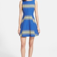 Women's Alice + Olivia 'Holis' Cotton Fit & Flare Dress